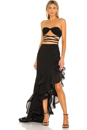 Bronx and Banco X REVOVLE Savanna Noir Gown in Brown.