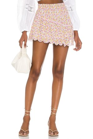 LOVESHACKFANCY Memphis Skirt in Pink.
