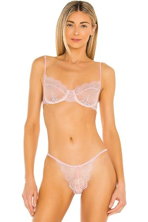 Only Hearts So Fine Lace Underwire Bra in Pink.