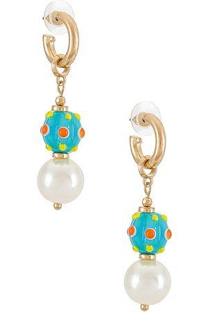 8 Other Reasons Women Earrings - Glass Beaded Earrings in Metallic .