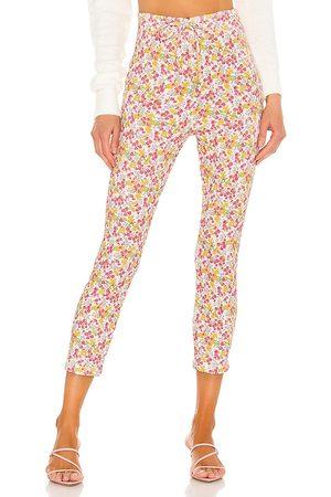LOVESHACKFANCY Women Skinny Pants - Brently Slim Pant in Pink.