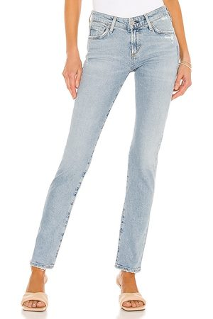 Citizens of Humanity Racer Low Rise Skinny in Blue.