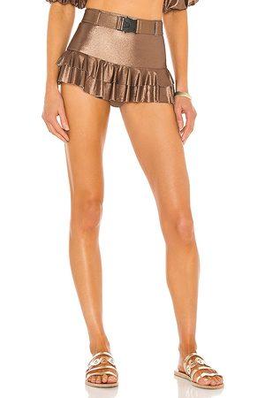 DEVON WINDSOR X Alexis Ezra Bikini Bottom in Brown.