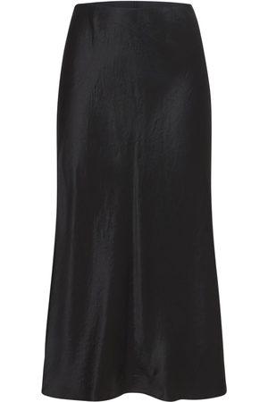 Max Mara Satin Flared Midi Skirt
