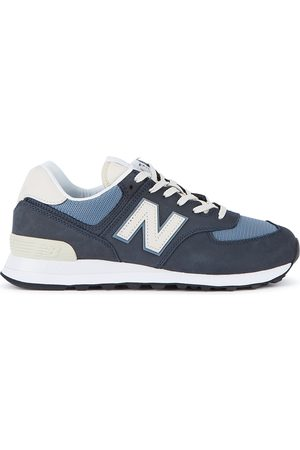 New Balance 574 navy panelled sneakers