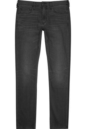 Paige Lennox dark grey slim-leg jeans
