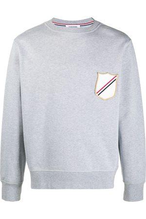 Thom Browne Crest-patch boat-neck sweatshirt - Grey