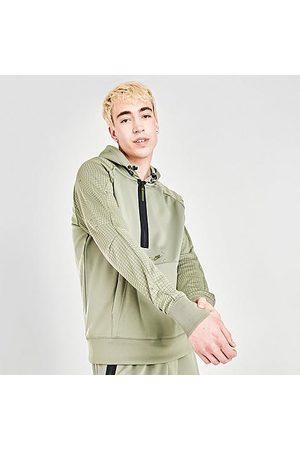 Nike Men's Sportswear Air Max Logo Half-Zip Fleece Hoodie in /Light Army Size Small 100% Polyester/Fleece