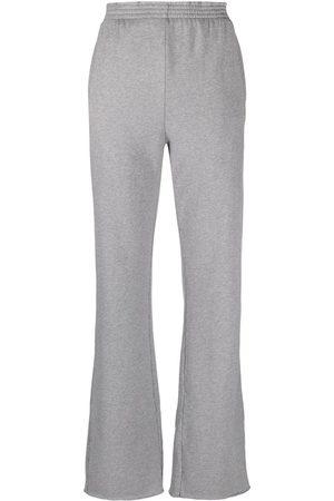 MM6 Maison Margiela Women Sweatpants - Straight-leg track pants - Grey