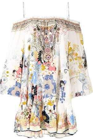 Camilla Floral-print off-shoulder dress