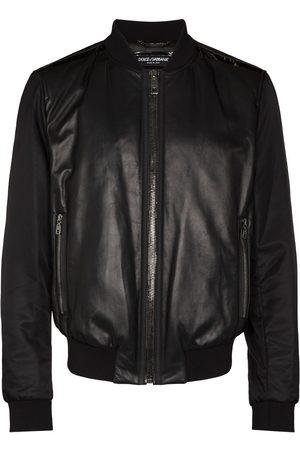 Dolce & Gabbana Panelled leather bomber jacket