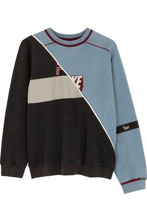 1/OFF Paris X Nike X Fila panelled cotton sweatshirt