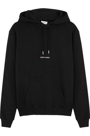 Saint Laurent Logo hooded cotton sweatshirt