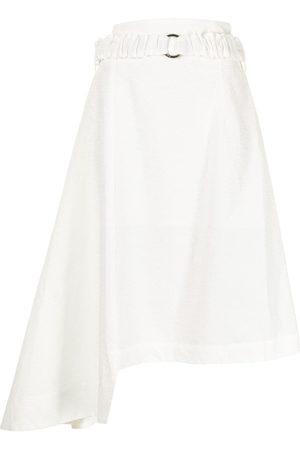 EUDON CHOI Asymmetric-hem belted-waist skirt