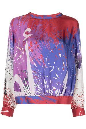 Elle B. Zhou Paint splatter-print sweatshirt