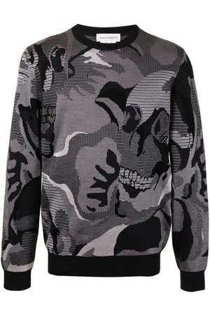Alexander McQueen Skull camouflage jacquard sweatshirt