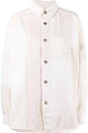 AMBUSH Women Denim - Patchwork logo denim shirt
