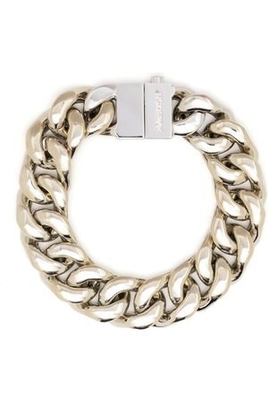 AMBUSH Chain 7 logo-engraved bracelet