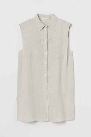H&M Sleeveless Linen Blouse
