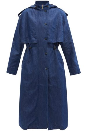 Made In Tomboy Anouk Hooded Denim Trench Coat - Womens - Indigo