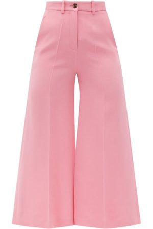 VALENTINO Crepe Couture Wool-blend Crepe Gaucho Trousers - Womens