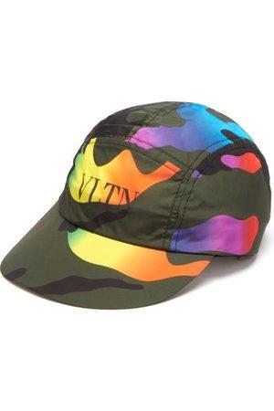 VALENTINO GARAVANI Vltn-logo Camouflage-print Shell Cap - Mens - Multi