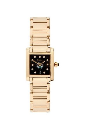 JACQUIE AICHE Vintage Cartier Tank Diamond & 18kt Watch - Womens