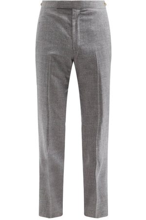 GABRIELA HEARST Sebastian Wool-blend Straight-leg Trousers - Mens - Grey