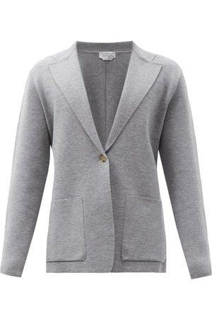 GABRIELA HEARST Orazio Single-breasted Wool-blend Blazer - Mens - Grey