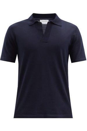 GABRIELA HEARST Stendhal Cashmere Polo Shirt - Mens - Navy