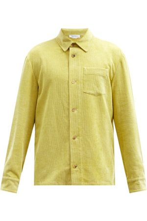 GABRIELA HEARST Drew Chest-pocket Linen-blend Corduroy Overshirt - Mens