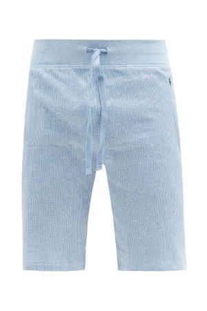 Polo Ralph Lauren Logo-embroidered Cotton-blend Waffle Shorts - Mens - Light