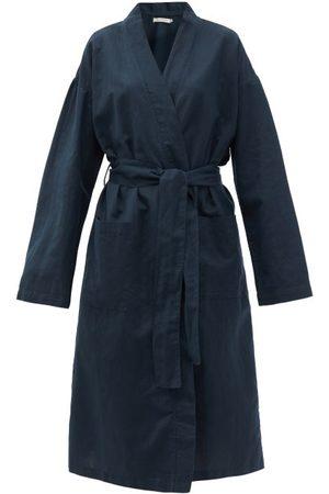 General Sleep Everyone Organic-cotton Blend Robe - Womens - Navy
