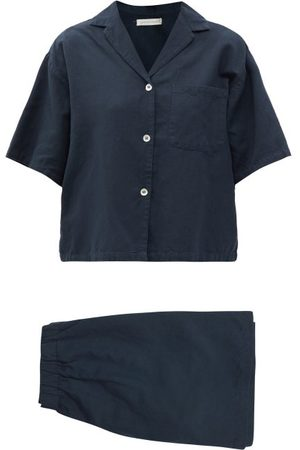 General Sleep Camilla Organic Cotton-blend Pyjamas - Womens - Navy