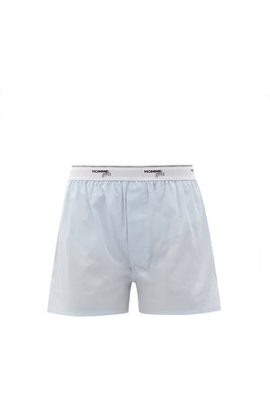 HOMMEGIRLS Logo-waistband Cotton Pyjama Shorts - Womens - Light
