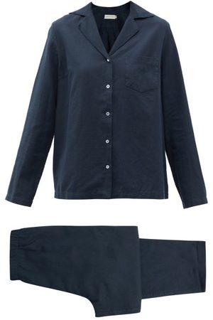 General Sleep Classic Organic-cotton Blend Pyjamas - Womens - Navy