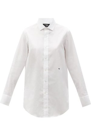 HOMMEGIRLS Logo-embroidered Cotton-twill Shirt - Womens