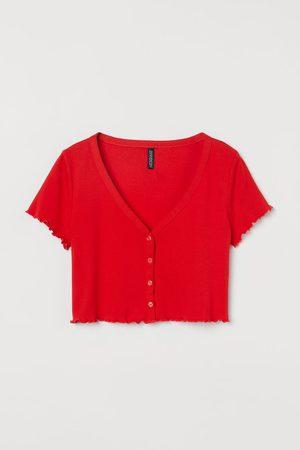 H&M Button-front Crop Top