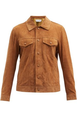 GABRIELA HEARST Men Leather Jackets - Leon Suede Jacket - Mens - Camel