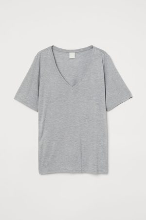 H&M Women T-shirts - Viscose V-neck T-shirt