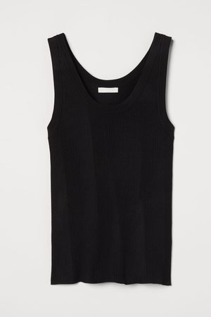 H&M Women Tank Tops - Rib-knit Tank Top