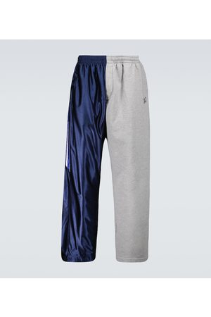 Balenciaga Men Sports Pants - Bi-fabric sweatpants