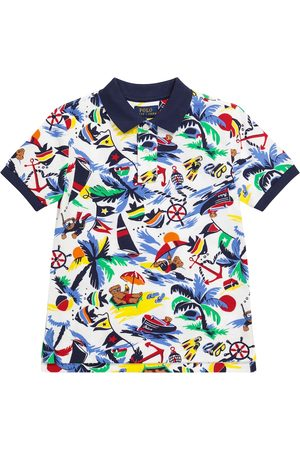 Ralph Lauren Boys Polo Shirts - Printed cotton piqué polo shirt