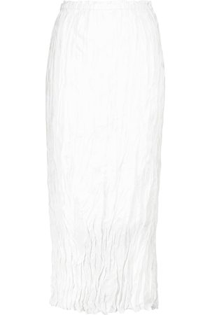 Totême Crinkled silk midi skirt