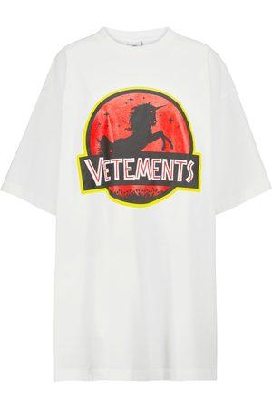 Vetements Women Short Sleeve - Logo cotton T-shirt