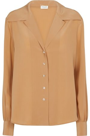 Saint Laurent Women Long sleeves - Silk crêpe de chine shirt