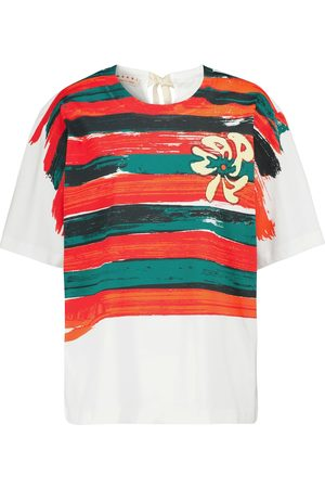 Marni Women Short Sleeve - Striped cotton T-shirt