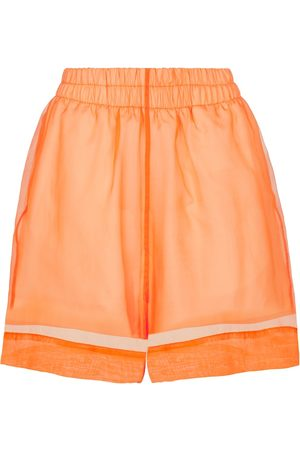 DRIES VAN NOTEN Cotton and silk organza shorts