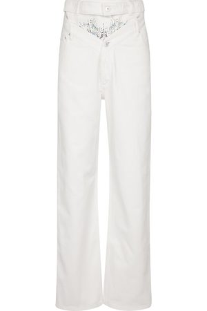 Y / PROJECT Women High Waisted - Embellished high-rise straight jeans