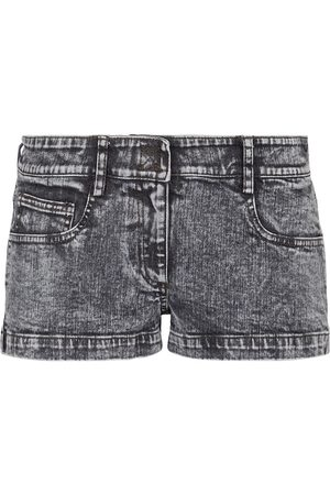 Norma Kamali Low-rise denim shorts